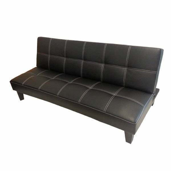 Leather Sofa Sydney: Click-Clack PU Leather Sofa Bed